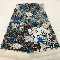 2018 Hottest Selling Nigerian French Net Lace Fabric Dubai Embroidered Beads Tulle Lace Latest African Lace Fabrics rof65 662