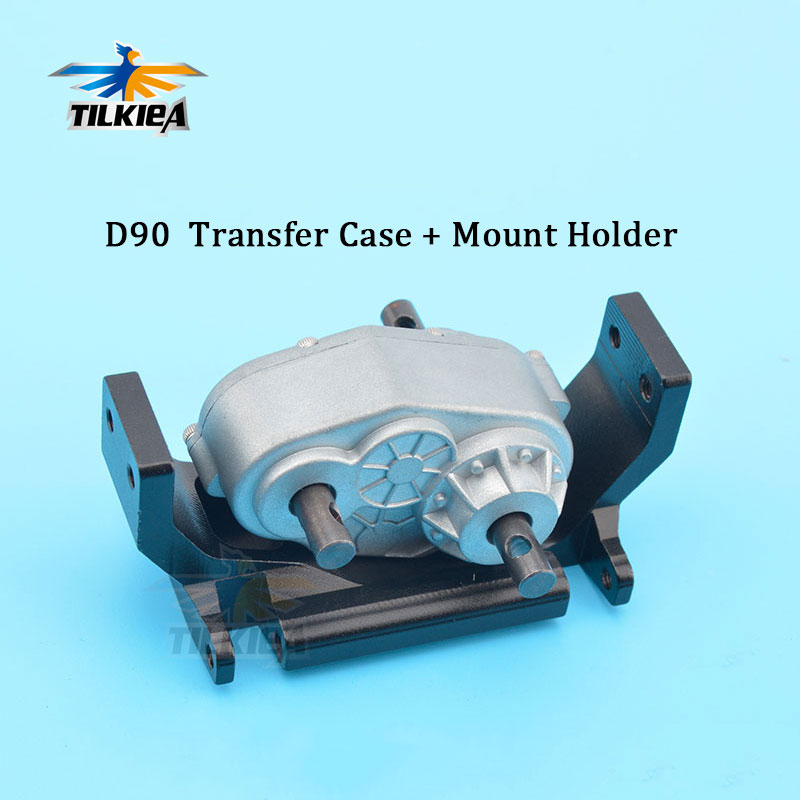 D90 RC Car 1 10 Rock Crawler Metal Transfer Case with Mount Holder High Quality Scx10