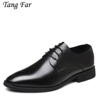 Business Dress Men Formal Shoes Men Loafers Pointy Black Shoes Oxford Breathable Wedding Shoes Lace Up Men's Derby Oxford Shoes