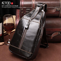 New leather men bag wholesale fashion casual men Korean version of the chest bag first layer of leather Messenger bag tide packa