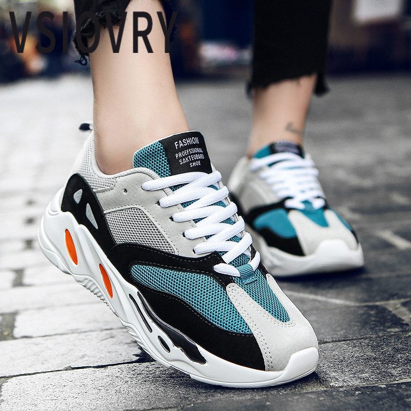 VSIOVRY Fashion Brand New Men Casual Shoes Breathable Mesh Unisex Flats Shoes Outdoor Casual Sneakers For