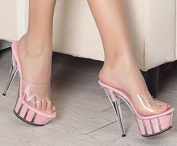 Pailletten Flache Klar Frau Rosa Schuhe D Heels High 15 Mode Sandalen More3444 Cm Ultra Form Ye2EDW9IH