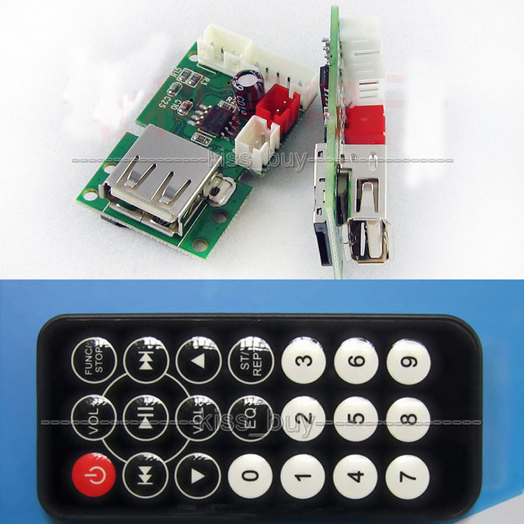 Faithful Wav Mp3 Decoder Board With Amplifier Lossless Music Module Usb Tf Card + Remote Support U Disk, Tf Card. Beneficial To Essential Medulla
