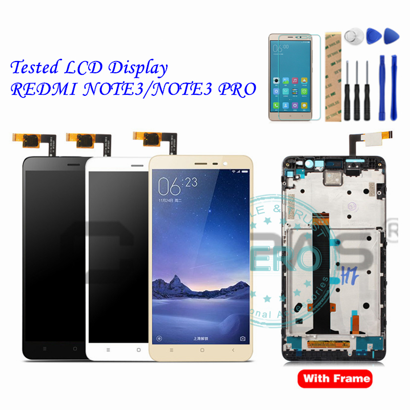 US $25 49 15% OFF|AAA For Xiaomi Redmi Note 3 Pro LCD Display + Frame Touch  Screen Panel Redmi Note3 Pro LCD Display Digitizer Complete Parts-in