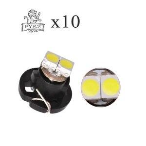 Image 1 - 10 個 T3 T4.2 led 3030 smd 車クラスターゲージダッシュボード白アイスブルーレッドピンク、緑、赤楽器パネルライトネオウェッジ電球