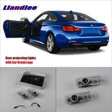 цена на Liandlee Car Door Welcome Light Shadow LED Laser Projector Logo For BMW 4 2013~2014 Courtesy Doors Lights Accessories Parts