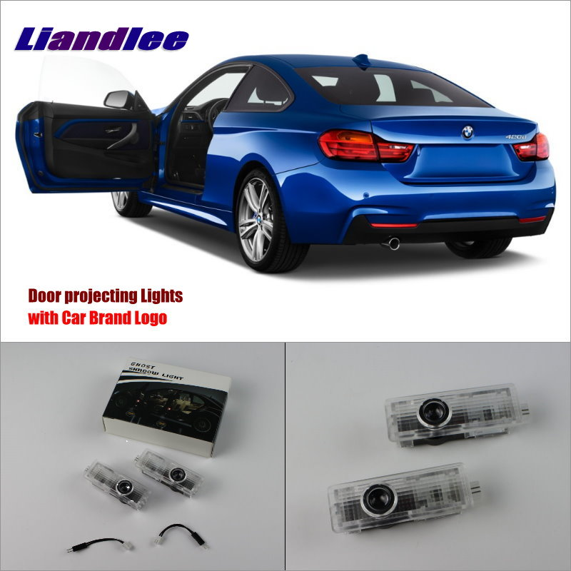 Liandlee Car Door Welcome Light Shadow LED Laser Projector Logo For BMW 4 2013~2014 Courtesy Doors Lights Accessories Parts