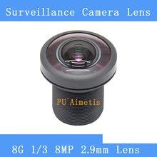 PU'Aimetis – caméra de vidéosurveillance 8MP F/1.8 2.9mm, objectif DV à focale fixe, verre ultra grand angle, 8G HD M12, caméra de sécurité