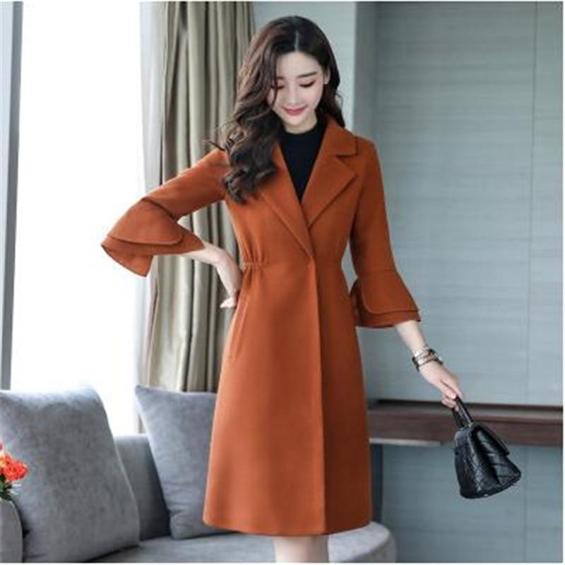 La Corée 2018 Femme Femmes Lâche pink green Cachemire Femelle Plus Hiver Manteaux Élégant Laine Nouveau De red Brown Imitation Manteau Taille Féminin 1420 wF7qEdXxnA