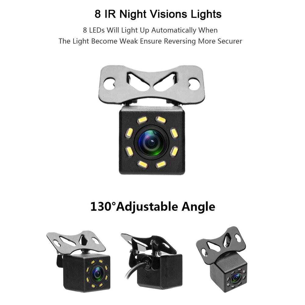 Podofo Backup Estacionamento Reverso Câmera de Visão Traseira Do Carro Universal Câmera 8 Visão Nocturna do IR À Prova D' Água 170 Grande Angular HD Cor imagem