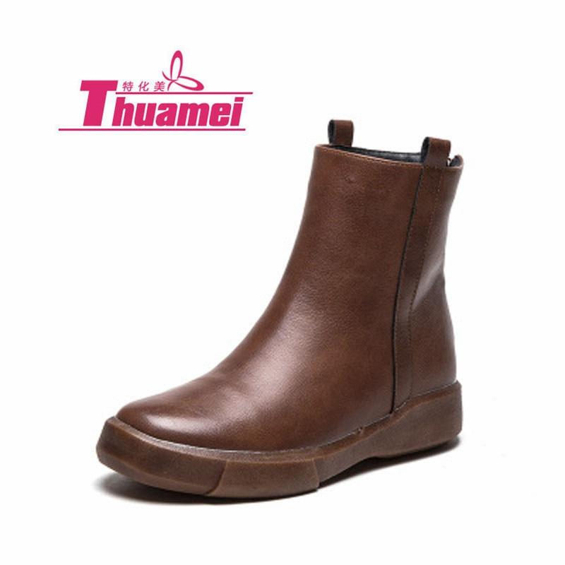 Platform Low Heels Pink Motorcycle Women's Fashion Ankle Autumn Women Boots Shoes Woman Botas #Y0799159Q