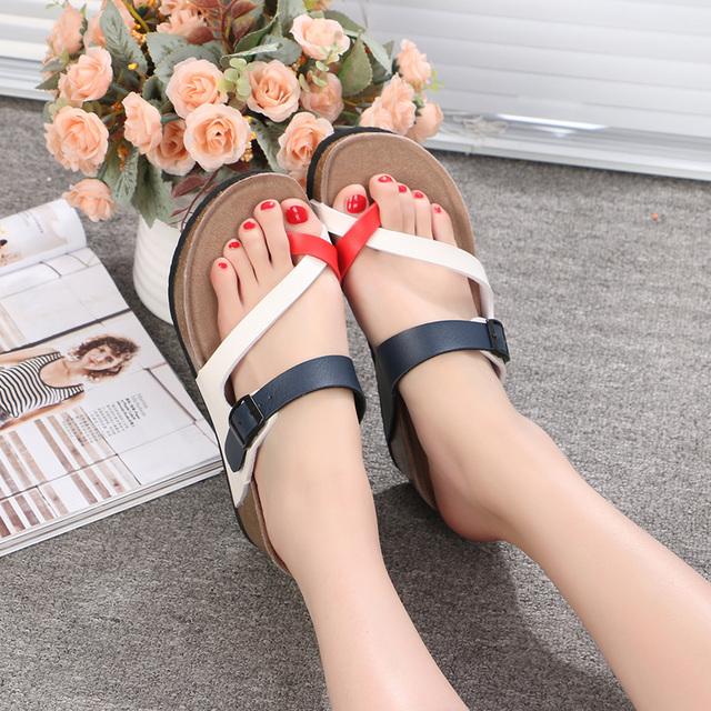 DRKANOL 2017 New Arrival Summer Women Sandals Fashion Comfortable Wedge Sandals Casual Beach Flip Flops Shoes Sandalias Mujer