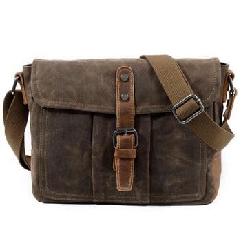 9f2fa0dc964c Мужская сумка через плечо сумка из непромокаемой холщовой ткани мужская  повседневная сумка