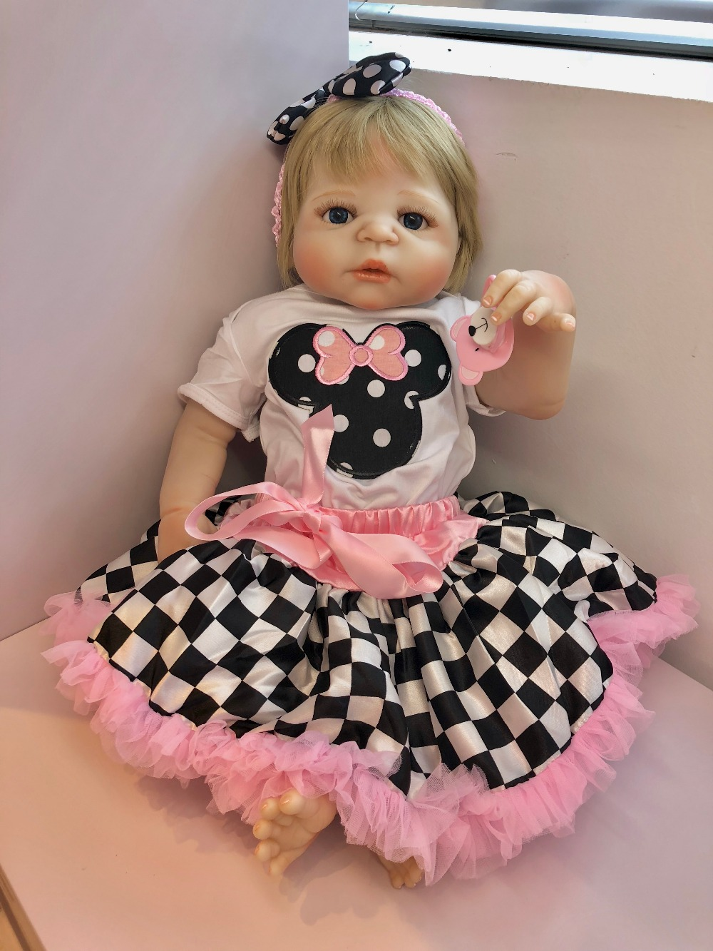 NPKCOLLECTION Reborn Doll Full Vinyl Babies Dolls For Girls 57CM Realistic Soft Alive Reborn Baby Doll