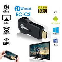 WECAST Nuovo Miracast Wifi Display del Ricevitore Dongle Ricevitore 1080 P Wireless A9 AirPlay DLNA 1 Professionale Casa Intelligente TV Stick regalo