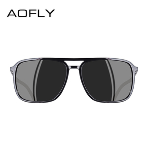 Image 3 - AOFLY แว่นตากันแดดออกแบบแบรนด์ Polarized Men Punk VINTAGE แว่นตา Steampunk แว่นตากันแดดแว่นตา Gafas De SOL AF8114
