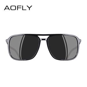 Image 3 - AOFLY מותג עיצוב משקפי שמש מקוטב גברים פאנק בציר משקפי Steampunk משקפי שמש משקפי Gafas דה סול AF8114