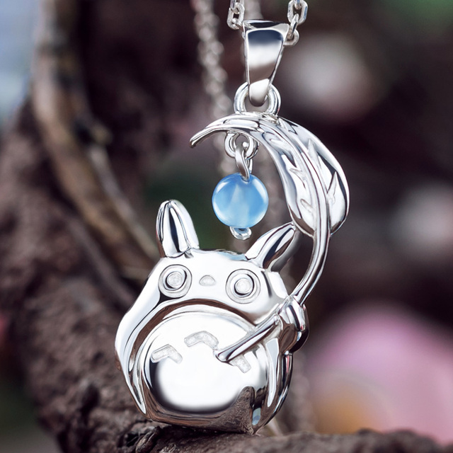 Totoro Pendant Necklace 925 Sterling Silver