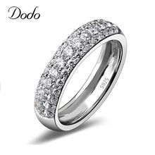 DODO Anilos 925 Sterling Silver Ring Wedding Elegant Jewelry Ring Punk Bague Women Full Crystal Bijoux Accessories Anel DR37