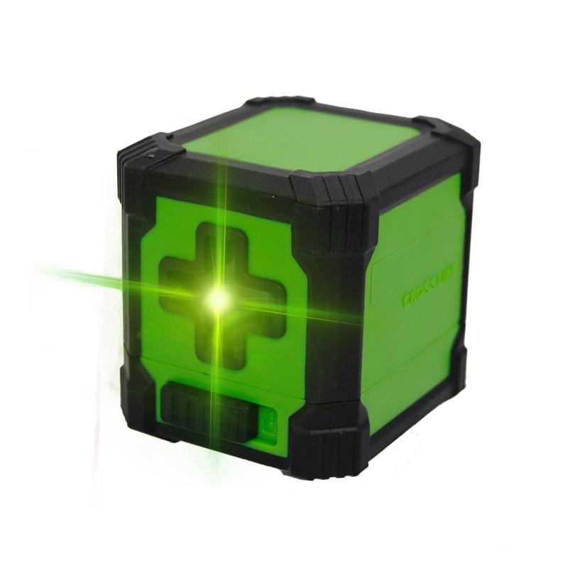Professional green light Mini 2 Lines Laser Level Horizontal and Vertical Cross Line laser level leveling Laser Level Kit цена