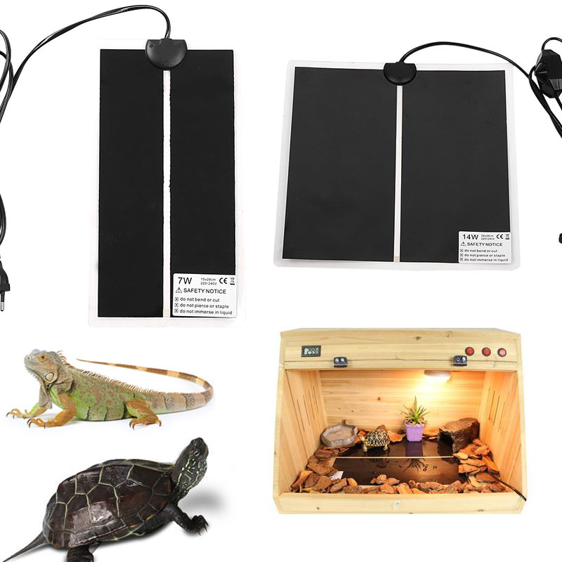 220V-240V Reptile Brooder Warm Pet Heat Mat Reptile EU/US Pad Chicken Coop Heater For Pads Plug Heating 5/7/14/20W Brew