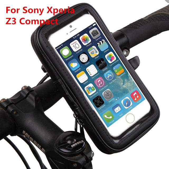 cheap for discount 3b72c 1521c US $8.92 |Bike Handlebar Mount Holder for Sony Xperia Z3 Compact /4.6''  Motorcycle Phone Holder Stand Waterproof Shockproof Case Bag Cover-in  Mobile ...