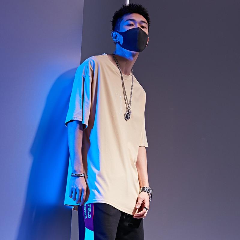 Harajuku Male T Shirt Trendy Printing Men 39 s T Shirts O Neck Comfortable Khaki Black Mens Tee Shirt in T Shirts from Men 39 s Clothing