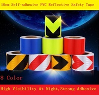 Road Traffic Construction Site Self Adhesive High Light Reflective Safety Tape Arrow Twill Warning Sign