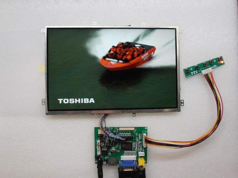 E & M 10,1 дюймов 1280*800 ips Экран ЖК-дисплей VGA 2 AV HDMI Raspberry PI 3 Авто подкладка приоритет малиновых Дисплей монитор
