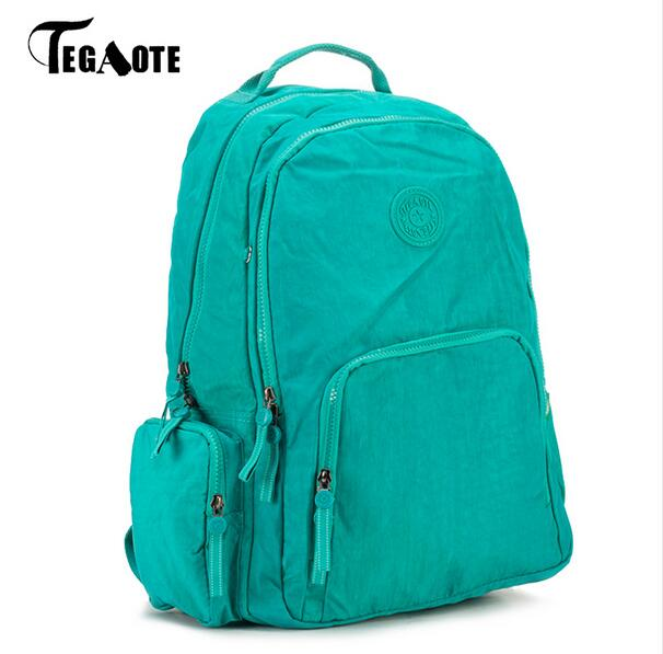 9feedb8c8e Best buy 2017 TEGAOTE Women Backpack Waterproof Nylon Teenage Girls  Schoolbag Backpacks Female Casual Travel bag Bags Students Book bag online  cheap