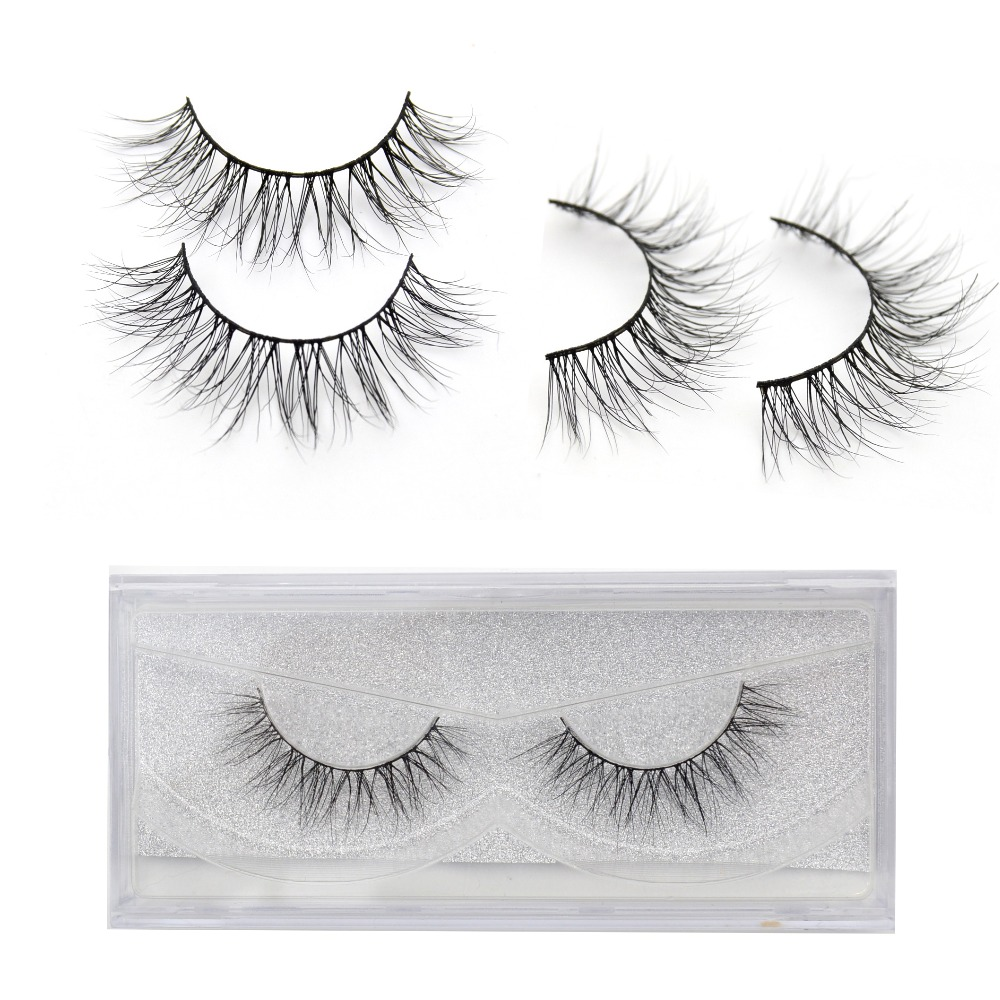 Eyelashes 3D Real Mink Eyelashes Natural Long False Eyelashes 100% Hand Made False Lashes Eye Extension Cilios Long Lasting
