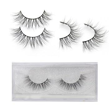 Eyelashes 3D Real Mink Eyelashes Natural Long False Eyelashes 100% Hand Made False Lashes Eye Extension cilios Long lasting