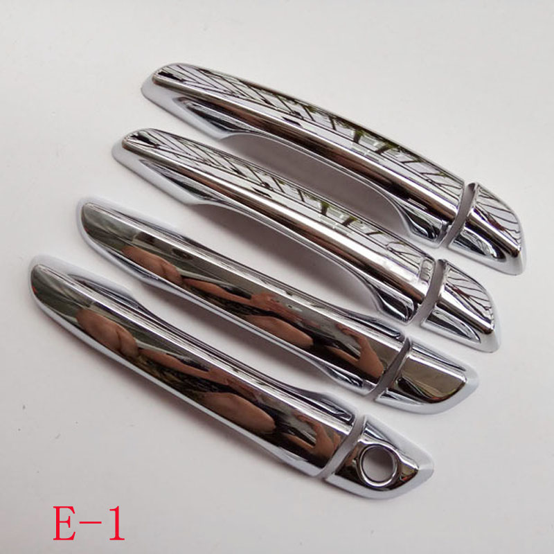 Free shipping For hyundai solaris 2 2017 2018 2019 door handle cover ABS Chrome car accessories new solaris