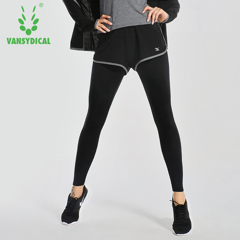 Vansydical Women Yoga Pants Compression sports Running Tights Quick Dry Fitness Workout Leggings Womens trousers Pantalon Femme