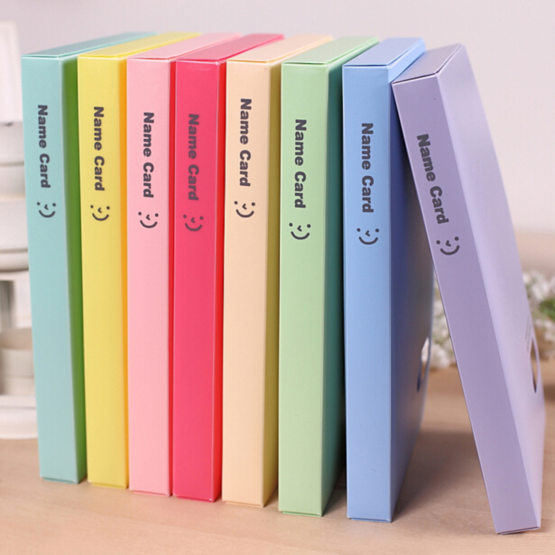 Large Capacity Card Stock 120 Slots Business Name Card Organizer Book Holder Women Card Case Male School Office Supplies 1pcs vertical id name card case aluminum alloy business card badge holder with neck lanyard strap company office supplies