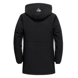 Image 3 - Brand Men Clothing Winter New Down Jacket Fashion Slim Hooded Thick Warm White Duck Down Long Coat and Parka Male 5XL 6XL