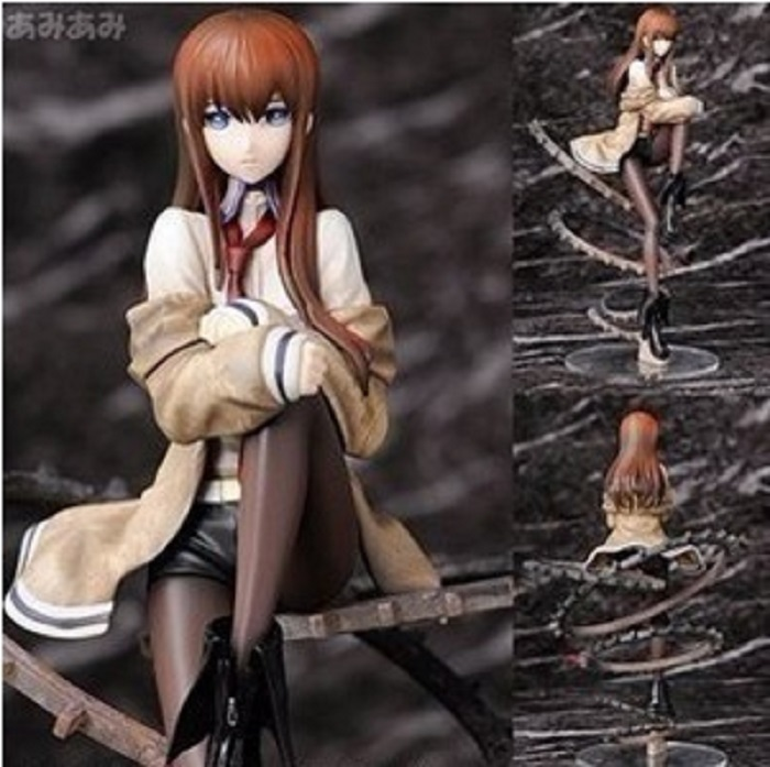 22cm Steins Gate Makise Kurisu 1/8 Scale Action Figures PVC brinquedos Collection Figures toys Men christmas gift Free Shipping patrulla canina with shield brinquedos 6pcs set 6cm patrulha canina patrol puppy dog pvc action figures juguetes kids hot toys