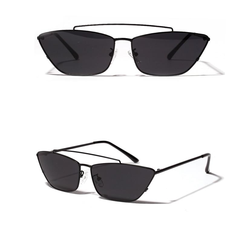 ladies cats eye sunglasses green lens detail (6)