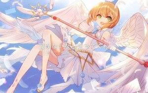 "Image 5 - 44.8 ""comprimento cardcaptor sakura claro cartão kinomoto sakura cosplay estrela sonho vara varinha mágica festa de halloween cosplay adereços novo"