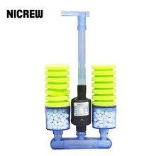 NICREW filtro de esponja para acuario con bomba de agua sumergible, filtro esponja bioquímico para circulación de agua