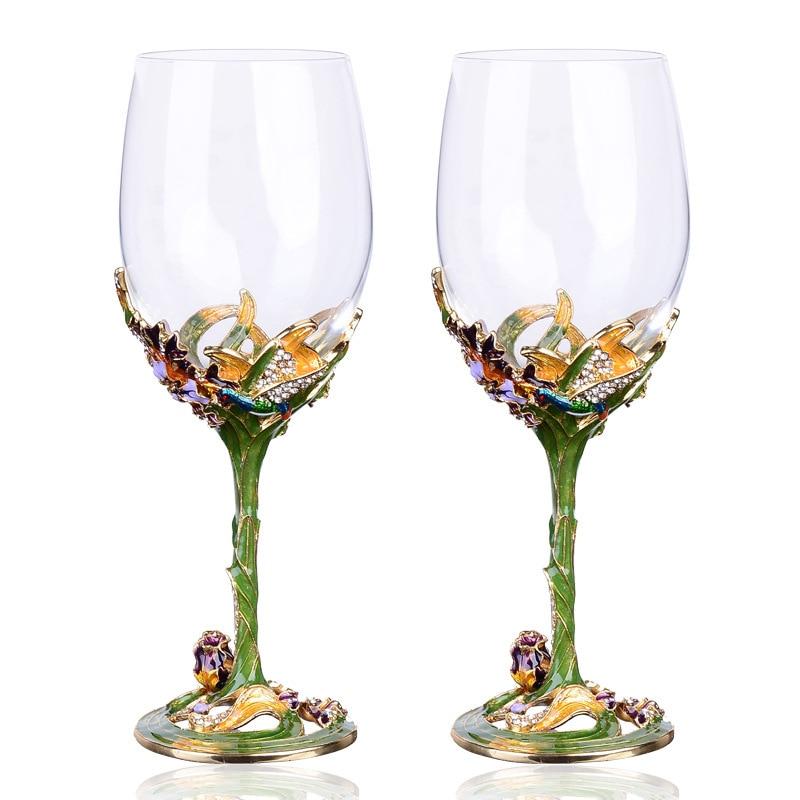 Verres à vin rouge en émail tasses et tasses en verre cristal tasse à vin de haute qualité drinkware créatif