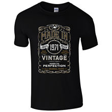 Made in 1971 T-Shirt Born 47th Year Birthday Age Present Vintage Funny Mens Gift Print T Shirt Short free shipng