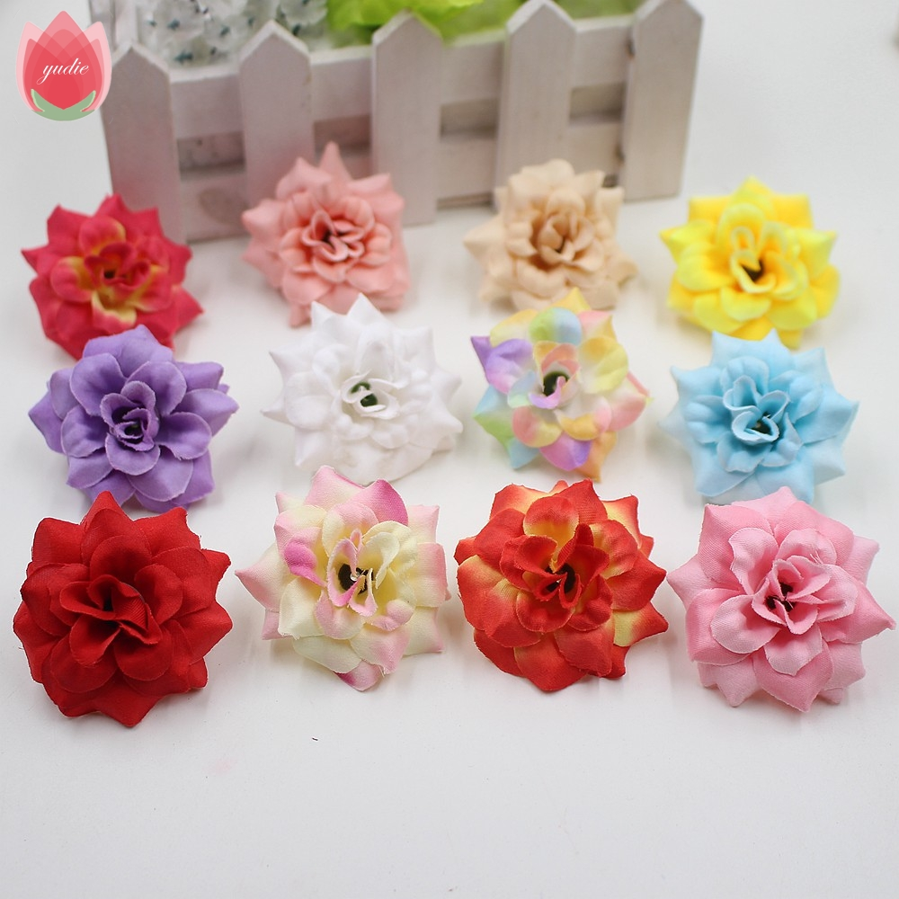 20pcs silk multicolor european style rose artificial for Artificial flower for wedding decoration