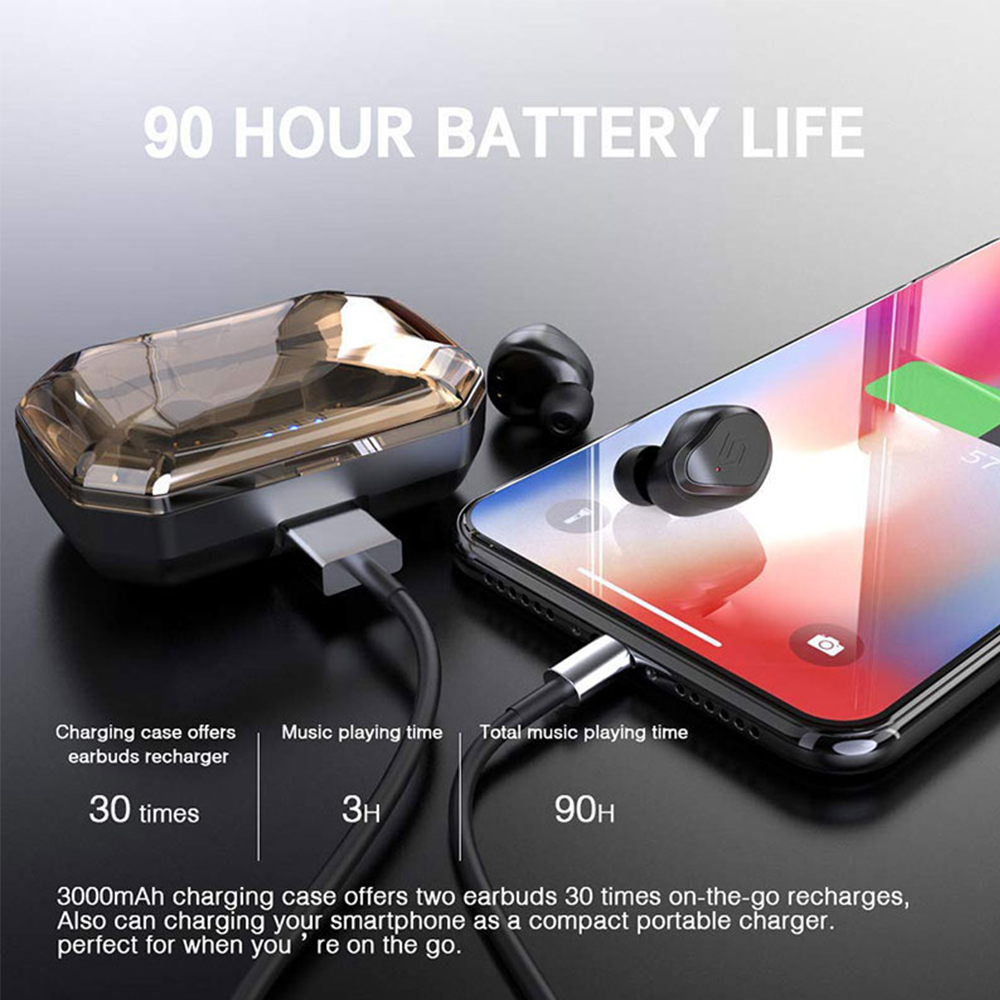 Image 4 - TWS S8 Plus True Wireless Earbuds Bluetooth 5.0 Earphones Touch Control IPX6 Waterproof CVC8.0 Noise Cancelling Headset With Mic-in Bluetooth Earphones & Headphones from Consumer Electronics
