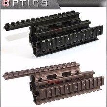 Векторная оптика тактическая AK 47 74 RIS Handguard Quad Rail Mount Free Rail Cover Guards пистолет аксессуары черный/Жженый бронзовый цвет