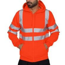 1a25925f2e3e0 2019 printemps homme veste décontracté travail routier haute visibilité  pull à manches longues à capuche sweat hauts veste homme.
