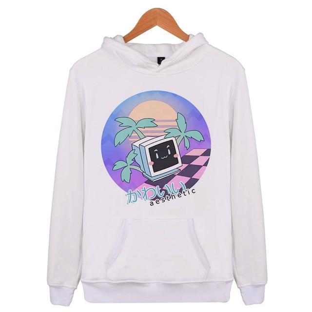 50711cc6f vaporwave Aesthetic 2018 Winter Autumn Hip Hop Hoodies and Sweatshirts  Printed Hoodies Men Pullover Clothing Hooded X4604