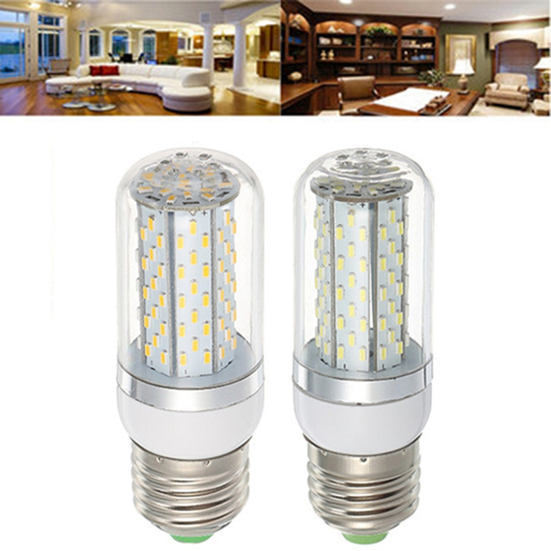 Smuxi LED Corn Bulb Lamp E27 AC85-265V SMD3014 120Leds Light Bulbs LED Diode Lamps Energy Saving Light For Home e14 120 smd 3014 led 6000 6500k 85 265v 12w 1200lm highlight corn light with lamp shade