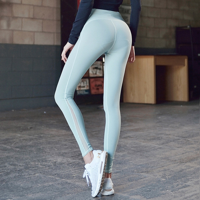 a0c3b6a451 New Stretchy Fitness Leggings For Women High Waist Gym Tights Energy Sport  Leggins Pink Yoga Pants