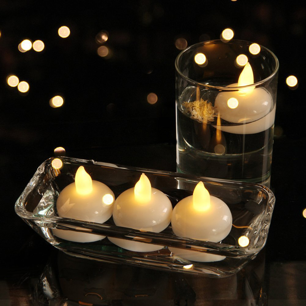 Floating Flameless Candle LED Tealights Battery Operated Water Activated Candle Light For Wedding Birthday Party Christmas Decor